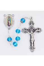 McVan Aqua Crystal Our Lady of Guadalupe Rosary