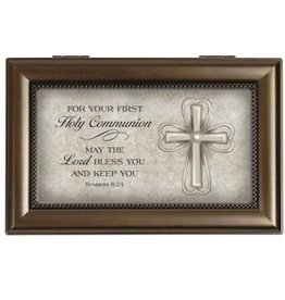 Carson Home Accent Music Box-Your Communion/Amazing Grace