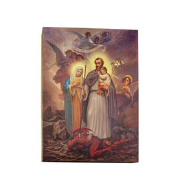 WJ Hirten St. Joseph Terror of Demons Large Gold Embossed Frame