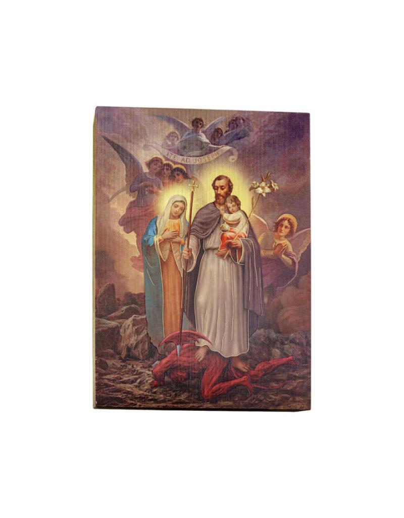 WJ Hirten St. Joseph Terror of Demons Large Gold Embossed Frame