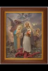 "WJ Hirten 8"" x 10"" St. Joseph Terror of Demons with Walnut Frame"