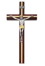 "McVan 10"" Cherry Crucifix with Gold Inlay"
