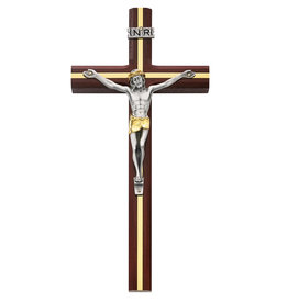 "McVan 10"" Cherry Crucifix with Gold Inlay"