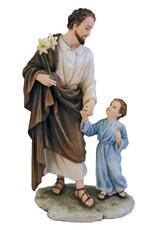 """Goldscheider of Vienna St. Joseph & Child 8.25"""" from the Veronese Collection"""