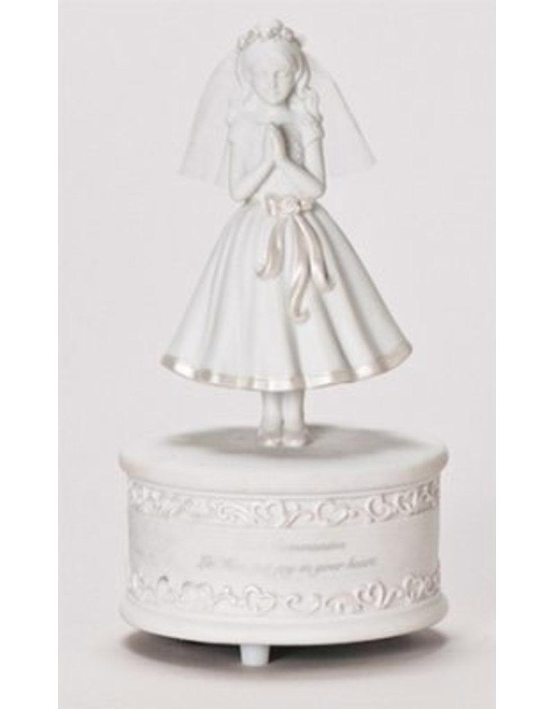 "Roman, Inc 7.5"" Musical First Communion Girl Figurine"