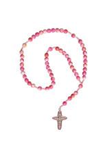 Sine Cera 6mm Pink Gemstone Children's Rosary
