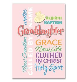 The Printery House Baptism Card Granddaughter