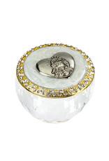 WJ Hirten First Communion Round Glass Box