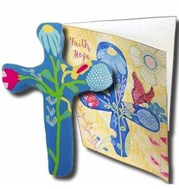 Calypso Studios Inc. Blue Clay Cross with Greeting Card