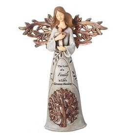 Roman, Inc Angel Holding Heart Figurine