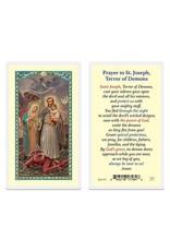 WJ Hirten Laminated Holy Card St. Joseph Terror of Demons