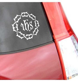 CatholiCar IHS Crown of Thorns Decal