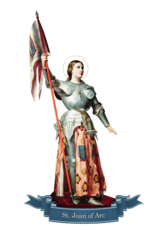 Devout Decals St. Joan of Arc Decal
