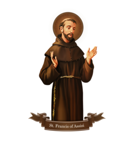 Devout Decals St. Francis of Assisi Decal