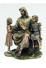"""Goldscheider of Vienna Christ With Children 8.25"""" Veronesse Collection"""