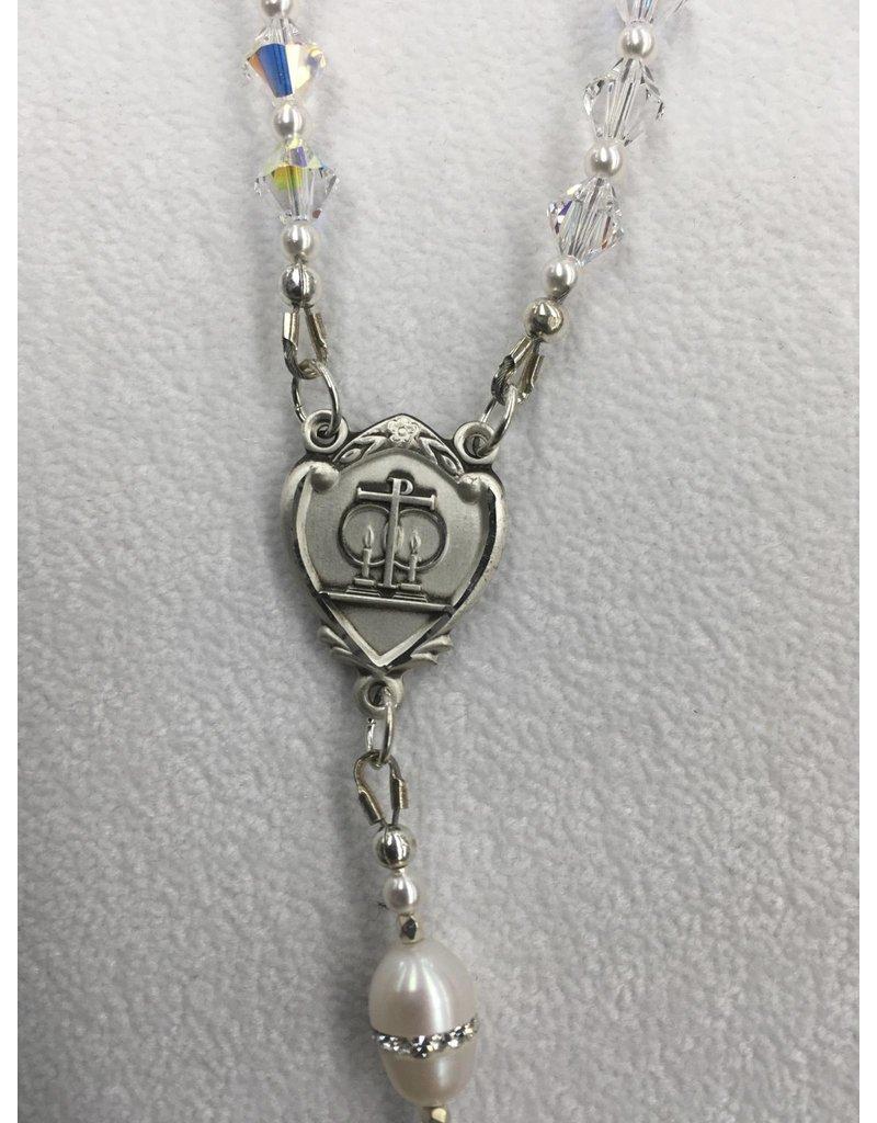 Artisan Jewelry Rosaries Crystal Wedding Rosary Artisan Heirloom Collection