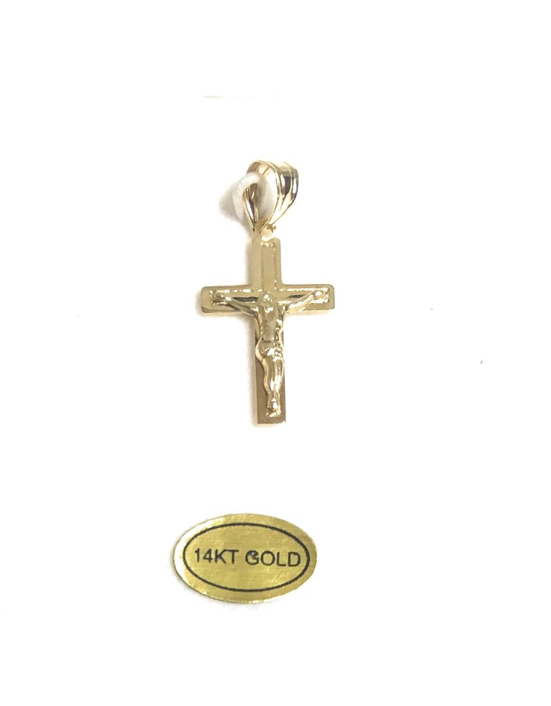 Wallace Brothers Manufacturing 14Kt Yellow Gold Crucifix