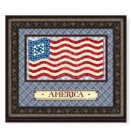 Jim Shore 22x19 God Bless America Wall Art