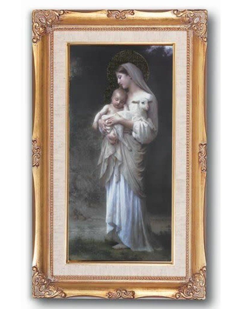 """WJ Hirten 11""""X19"""" Divine Innocence Framed Image"""