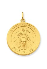 24k Gold-Plated Sterling Silver Saint Florian Medal