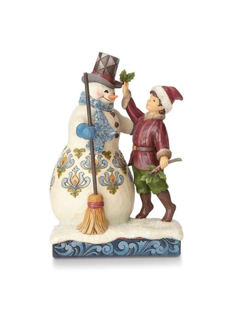 Jim Shore Heartwood Creek Victorian Snowman with Boy Figurine
