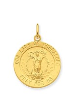 Sterling Silver And 24k Gold -Plated Our Lady Of Guadalupe Medal