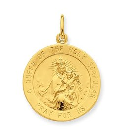 Sterling Silver And 24k Gold -Plated Queen of the Holy Scapular