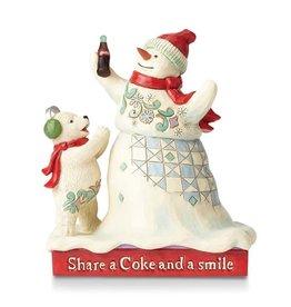 Jim Shore Jim Shore Coca Cola Snowman and Baby Polar Bear Figurine