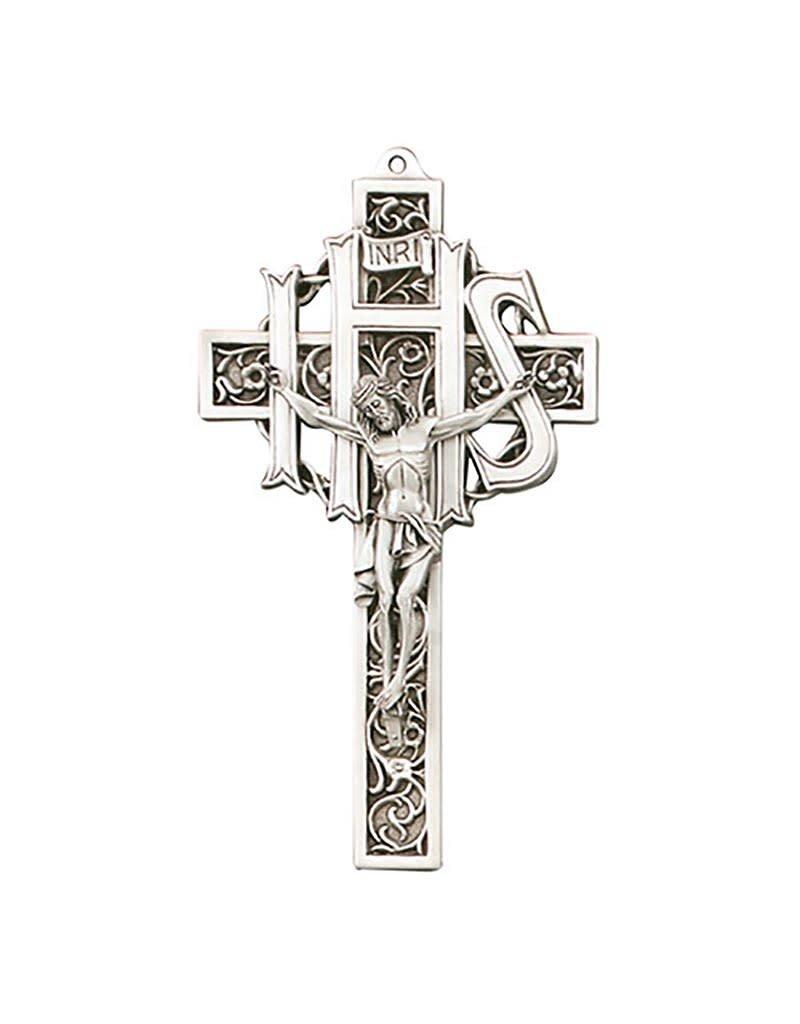 """Jeweled Cross Company 9"""" Filigree Crucifix Antique"""