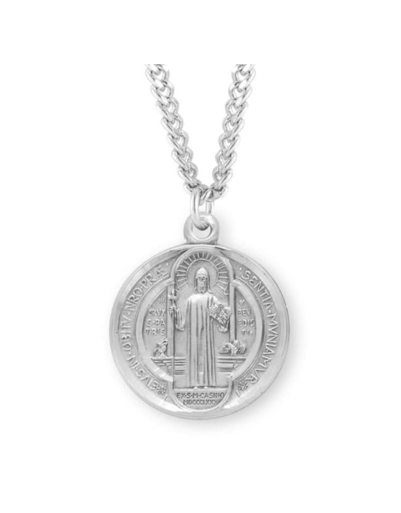 HMH Religious Small Saint Benedict Round Jubilee Sterling Silver Medal