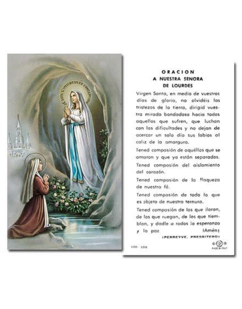 WJ Hirten Oración a Nuestra Señora de Lourdes tarjeta santa