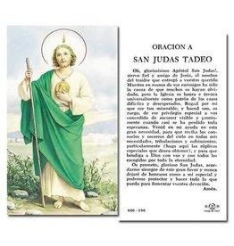 WJ Hirten Oración A San Judas Tadeo (St Jude Holy Card)