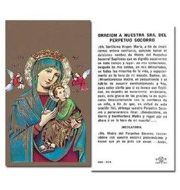 WJ Hirten Oración a Nuestra Señora Del Perpetuo Socorro Holy Card