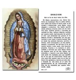 WJ Hirten Oración Nuestra Señora de Guadalupe Holy Card