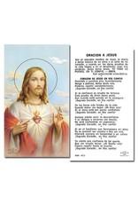 WJ Hirten Sagrado Corazón De Jesús Holy Card
