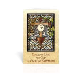 WJ Hirten Bread of Life and Cup of Eternal Salvation First Communion Greeting Card