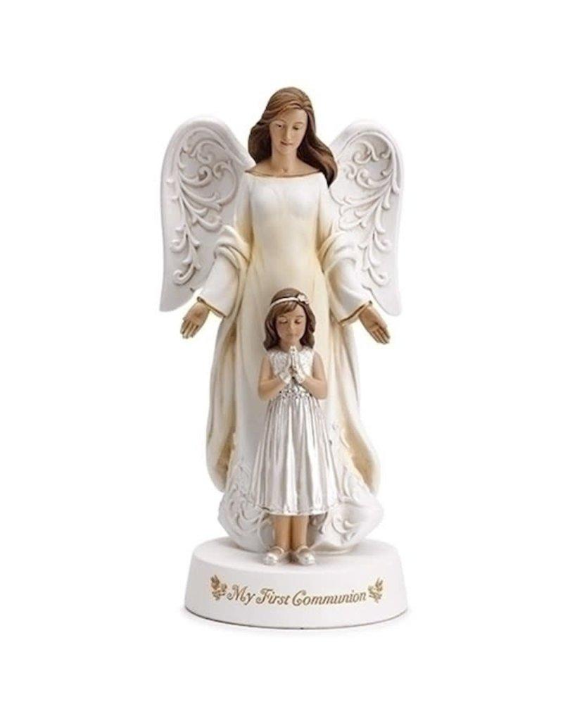 "Joseph's Studio 7.75"" Communion Angel with girl"
