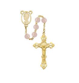 McVan 7mm GP Pink Crystal Rosary