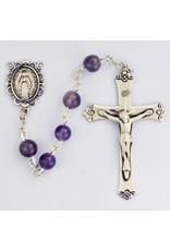 McVan 6mm Genuine Amethyst Rosary