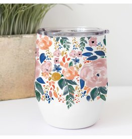 Mary Square Stainless Drink Tumbler Autumn Blossoms