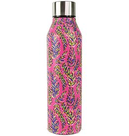 Mary Square Stainless Bottle Pink Frond