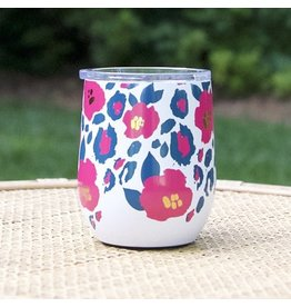 Mary Square Stainless Drink Tumbler Wild Posy