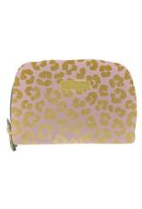 Mary Square Hide & Seek Wallet- Blush Leopard