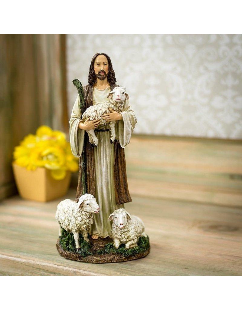 "Roman, Inc 12"" Good Shepherd Statue"
