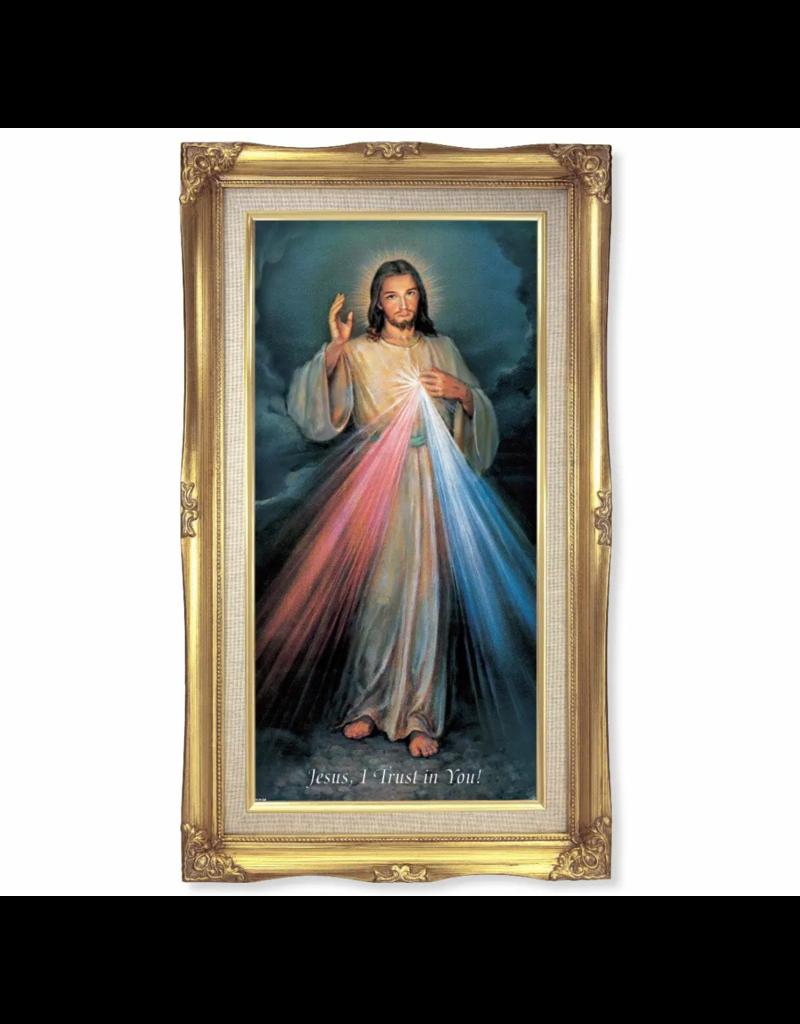 """WJ Hirten 11""""X19"""" Divine Mercy Framed Image"""
