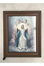 "WJ Hirten 8"" X 10"" Queen of Heaven Ornate Wood Frame"
