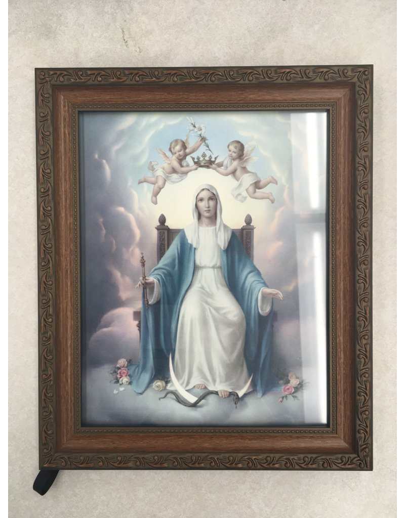 """8"""" X 10"""" Queen of Heaven Ornate Wood Frame"""