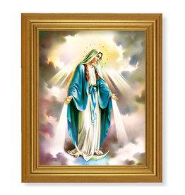 "WJ Hirten 12"" x 16""  Wood Tone Framed Our Lady of Grace"