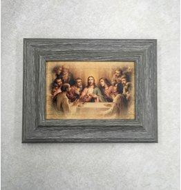 "WJ Hirten Last Supper Blessing Plaque in 4""x6"" Frame"