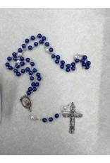 WJ Hirten St. Michael Blue Pearl Rosary